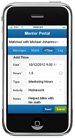 Mentor Portal on iPhone